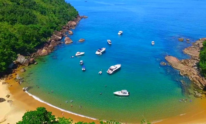 fazendo intercambio litoral sp praia ilha anchieta ubatuba