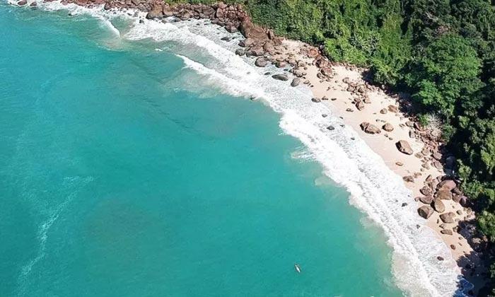 fazendo intercambio litoral sp praia saco mae maria